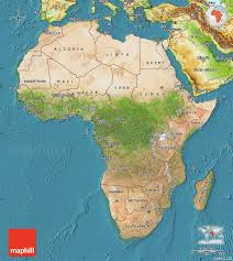 Africa Maps by Satellite Map Of Africa Physical Outside Satellite Sea