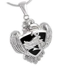 pendant for ashes stainless steel eagle biker cremation pendant urn jewelry holds