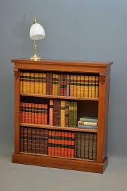 victorian walnut open bookcase low bookcase victorian bookcase