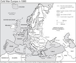 Map Of Cold War Europe by Cold War Europe