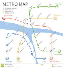 Subway Train Map by Metro Subway Train Map Vector Urban Transportation Concept Stock