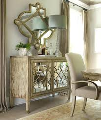 mirrored buffet console dining room room centerpiece ideas blue