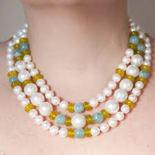 short pearl necklace images The green cleopatra necklace the pearl ladies jpg