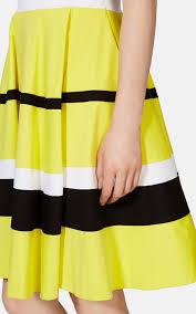 karen millen bright colour block striped dress in yellow lyst