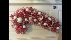 Where To Buy Ribbon Candy How To Make A Deco Mesh Candy Cane For Christmas Poof And Ruffle