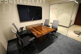 5 foot conference table small conference room reclaimed wood table blog