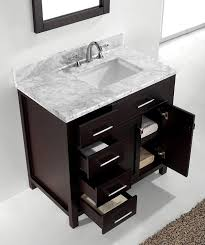 Virtu USA MSLWMSQES Inch Caroline Parkway Single Square - 36 inch single sink bathroom vanity