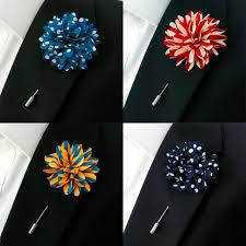 mens boutonniere mens lapel flowers wedding silk blend fashion handmade boutonniere