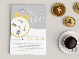 around the clock bridal shower around the clock bridal shower invitation