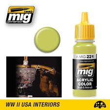 mig ammo acrylic paint 17ml fs 33481 zinc chromate yellow