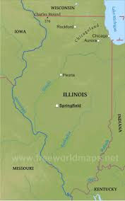 Map Of Wisconsin And Illinois by Physical Map Of Illinois