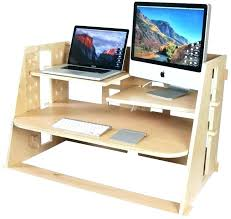 laptop standing desk converter cheap stand up desk work setup a combined sitting and standing desk