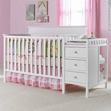white nursery changing table extraordinary baby cribs with changing table kids bedroom design ideas