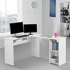 L Shaped Computer Desk White Langria Modern L Shaped Computer Desk Corner Pc Latop