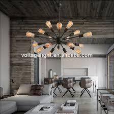 Hanging Bulb Chandelier Modern Interior Decoration Hanging Lamp Edison Bulbs Chandelier
