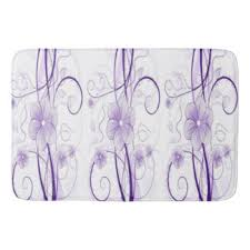 Purple Bathroom Rug Lavender Flowers Bath Mats U0026 Rugs Zazzle