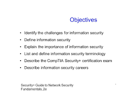 chapter 1 information security fundamentals security guide to