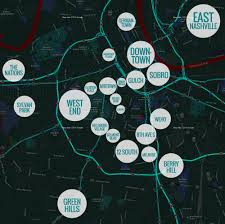 Map Of Nashville Tn Neighborhoods Nashville Guru