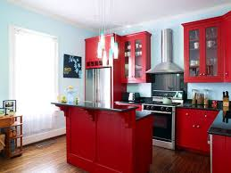 red kitchen looks cool and dramatic decor crave