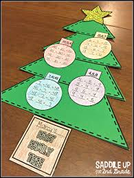 fact family christmas trees and reindeer shapes freebie saddle