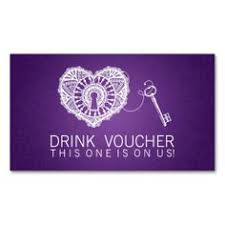Make My Own Business Card Purple Damask Wedding Drink Voucher For Reception Business Card