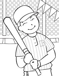 baseball coloring page for kids with baseball pages baseball