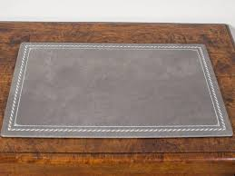 Desk Pad Blotter Refills Custom Grey Leather Desk Pad Blotter Hungary Circa 2015 At 1stdibs