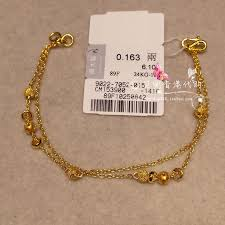 double gold bracelet images Usd 392 32 hong kong chow tai fook counter genuine 999 9 double jpg