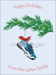 running shoe ornament card details