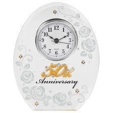 50 year anniversary gift 50th wedding anniversary clock 50 years of marrage golden