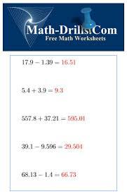 decimals worksheets free printable decimals worksheets math