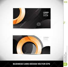 Business Card Eps Template Business Card Orange Circle Vector Design Template Eps Stock