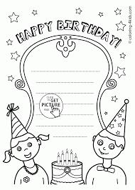 happy birthday coloring card free printable happy birthday coloring pages for for card