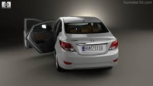 2014 hyundai accent interior hyundai accent rb sedan with hq interior 2014 3d model hum3d