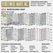 Map Of Hotels In Chicago by Streetwise Barcelona Map Laminated City Center Street Map Of