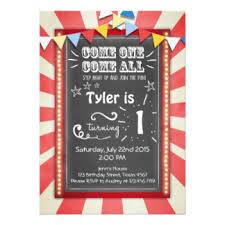 circus invitations u0026 announcements zazzle