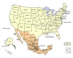 map usa y canada map usa y mexico mexico usa map states travel maps and major