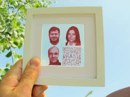 A semi transparent dye sensitized solar cell with inkjet printed photovoltaic portraits of the Aalto researchers  Ghufran Hashmi  Merve   zkan  Janne Halme