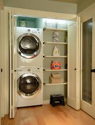 Laundry Closet Door Lg Stackable Washer Dryer Laundry Room Contemporary With Clean