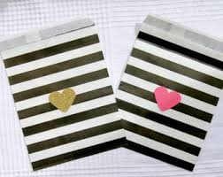 black and white striped gift bags kate spade gift bags etsy