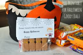 free printable for halloween goody bags some treats for my peeps