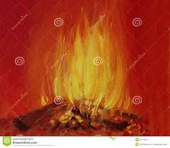burning fire in a fireplace stock illustration image 32157874