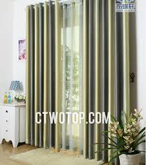 green striped curtains