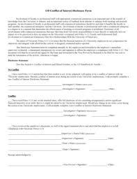 fillable online udel ud conflict of interest disclosure form