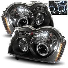 jeep commander black headlights dash z racing lighting aftermarket lights headlights
