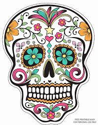 sugar skull printable mask sugar skull designs