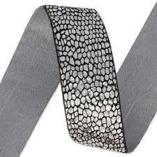 metallic ribbon fancy metallic ribbon 25 mm black silver tone x 1m perles co