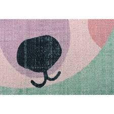 tapis ourson chambre bébé tapis oden l ourson à lunettes vert rectangle pour chambre bébé par