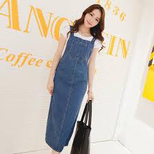 long denim dress women 2017 summer korean style casual brief