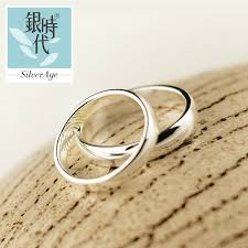 couples rings silver images Silver age couples rings inside fingerprint puzzle wedding bands jpg